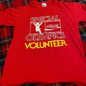 Coke Coca Cola Special Olympics Volunteer T-shirt